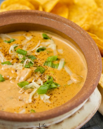 Serve this great Mexican Chili Cheese Dip in a small pot for serving