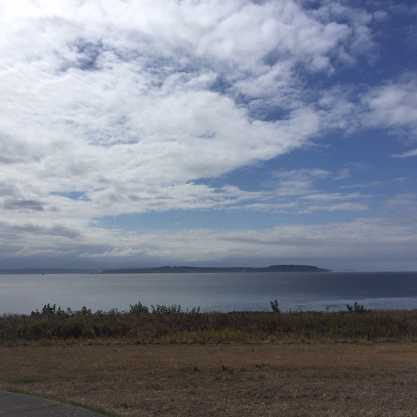 The view from Fort Casey State Park is beautiful