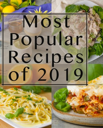 collage with title: Most Popular Recipes of 2019: the year in review.