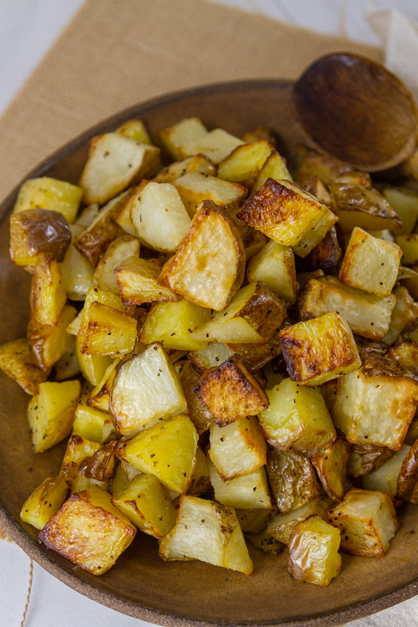 Sheet Pan Potatoes in a bowl