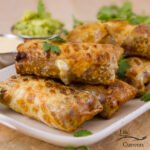 Air Fryer Southwestern Egg Rolls on a plate