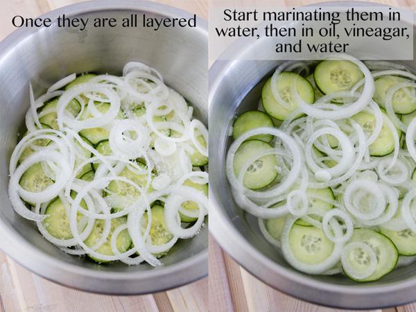 process shot Cukes & Onion Salad