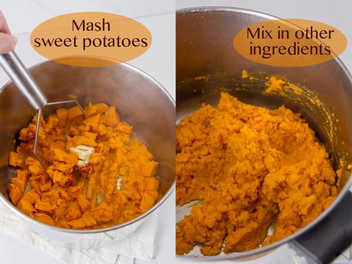 process shots for sweet potatoes