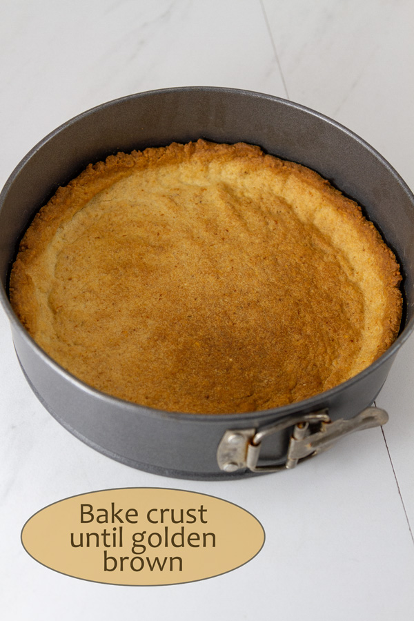 How to make Lemon Cream Pie, process shots: baked crust ready to be filled.
