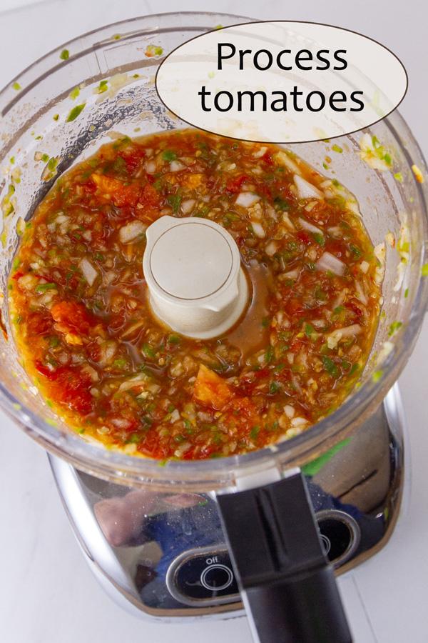 fresh salsa in a food processor.