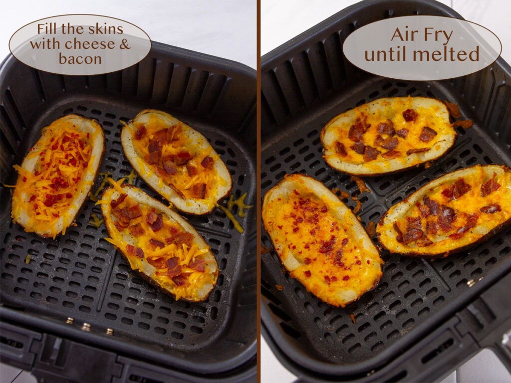 making potatoes into appetizers in the air fryer