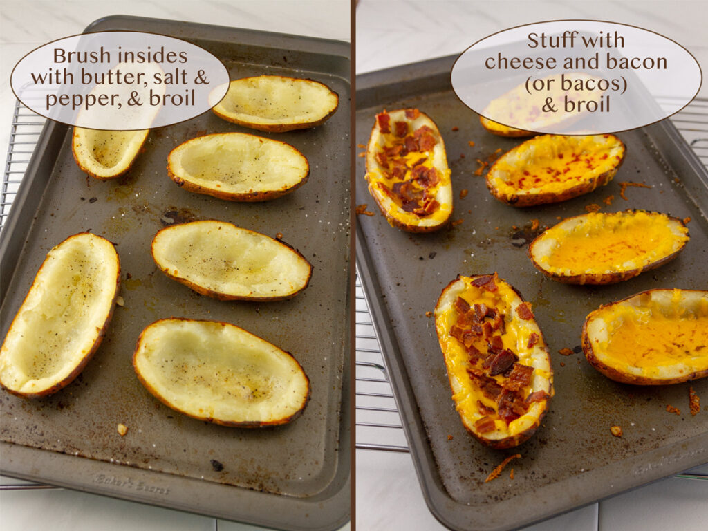 how to make potatoes into appetizers in the oven.