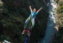 Canyon Swing in Nepal