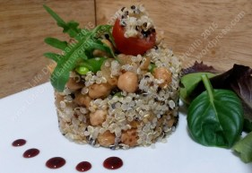 All poshed up quinoa