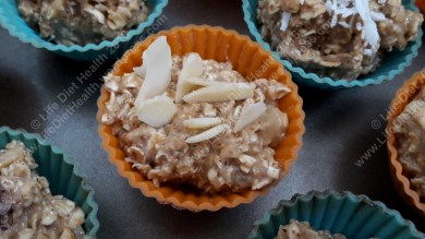 Ready to bake: Flaked almond topped cakes