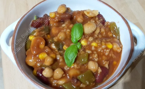 Hearty bean soup as a filling meal.