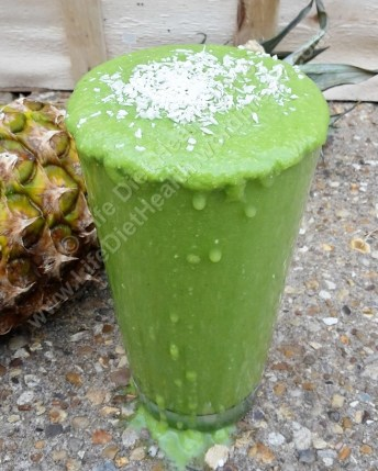 Zingy smoothie in a glass