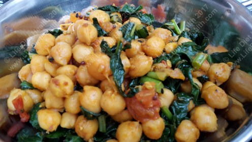 Delicious chickpeas & greens