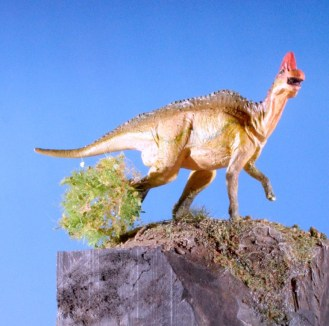 Corythosaurus y Barosaurus, vista 4. Alfonso Jaraiz