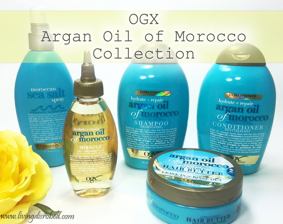 OGX Argan Oil Of Morocco Collection Review Living Disrobed