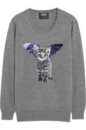 Catbat Sequined erino Wool Sweater £295 Markus Lupfer at Net-A-Porter