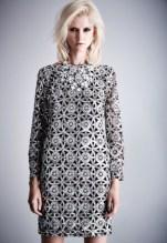 Silver sequin bodycon dress, £60 Gemstone necklace, £35
