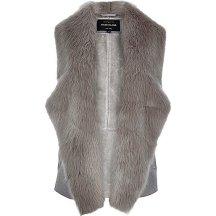 Grey Plush Faux Fur Gilet £60 River Island