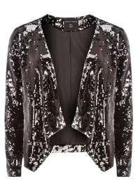 Charcoal Sequin Jacket, £30 Dorothy Perkins