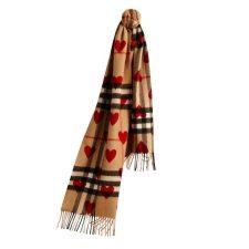 Cashmere scarf, £395, Burberry