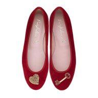 Suede slippers with Swarovski details, £159, Pretty Ballerinas