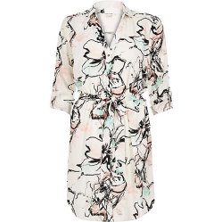 White Floral Print Shirt Dress, £40 River Island