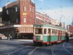 Tram at Randwick, Simons' Pharmacy