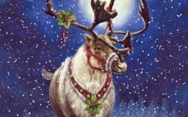 happy-merry-christmas-raindeer-art-painting-image-wallpaper