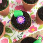 Chocolate Flower Pot Cupcakes To Celebrate Mother S Day