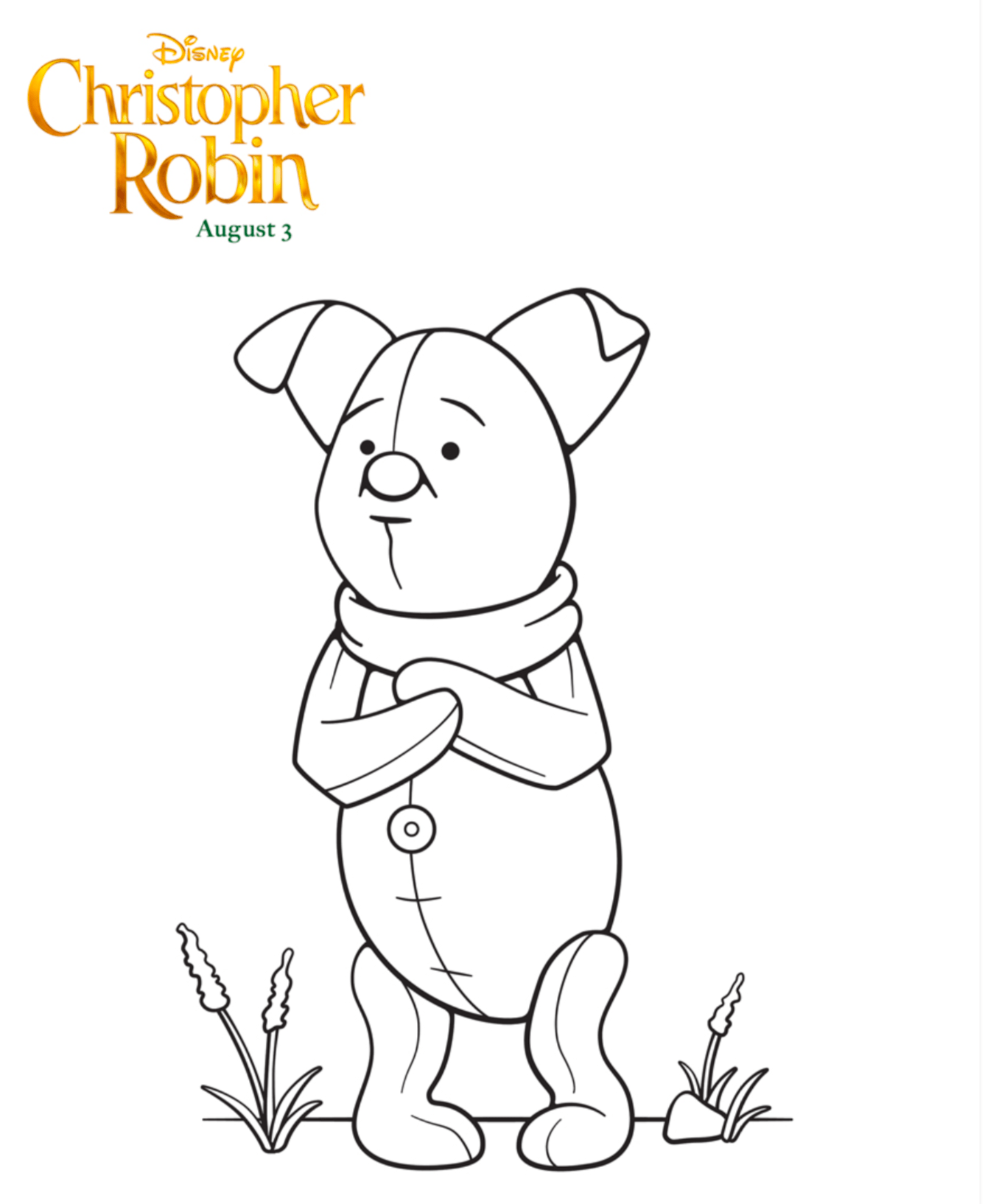 Free Printable Disney Christopher Robin Coloring Pages