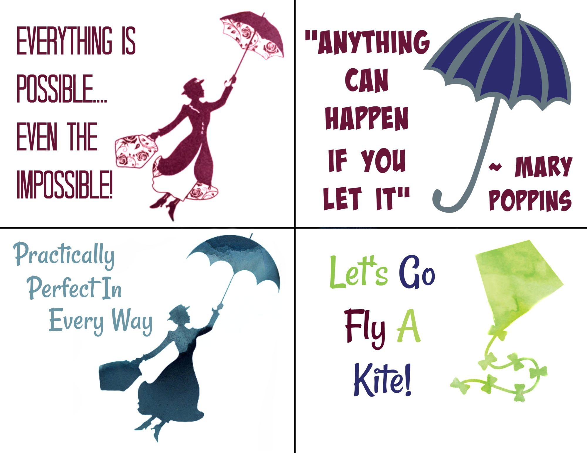 Free Printable Mary Poppins Lunchbox Notes