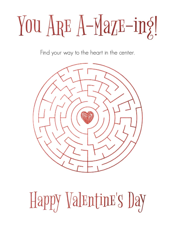Free Printable Valentine S Day Maze