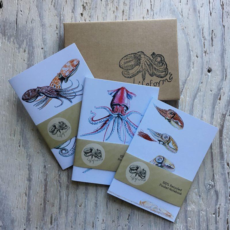 Cephalopods Pocket Notebooks Gift Set