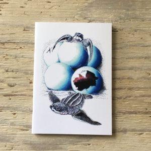hatching leatherback turtle pocket notebook