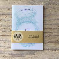 moon jellyfish pocket notebook