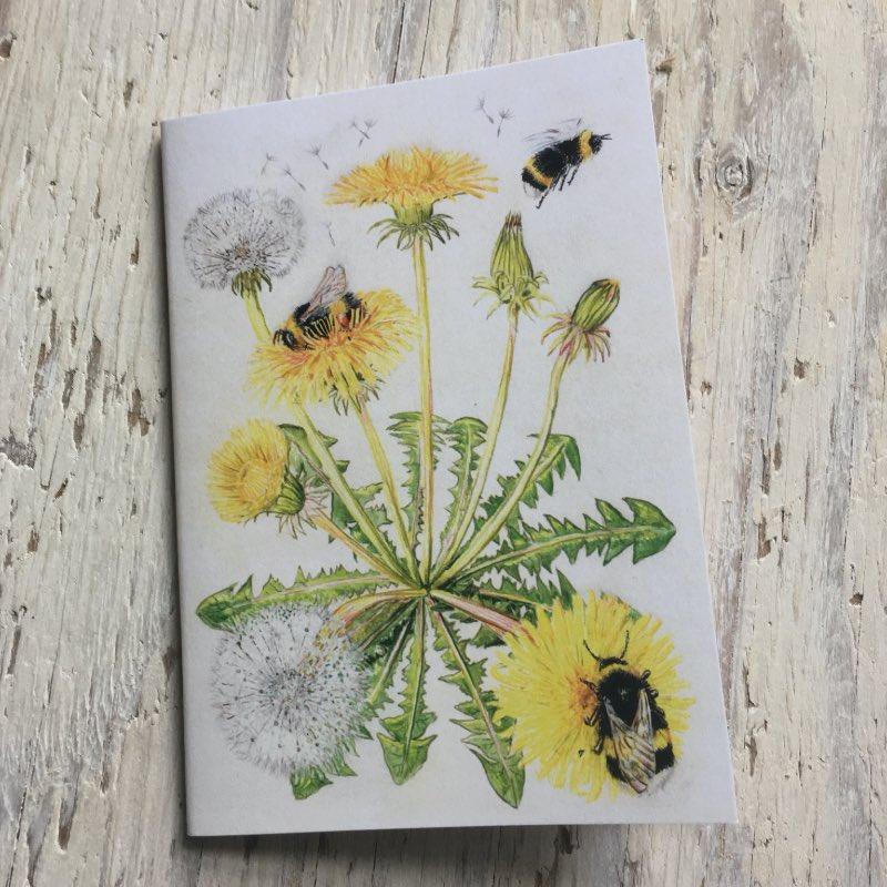 Bumblebee and Dandelion Pocket Notebook