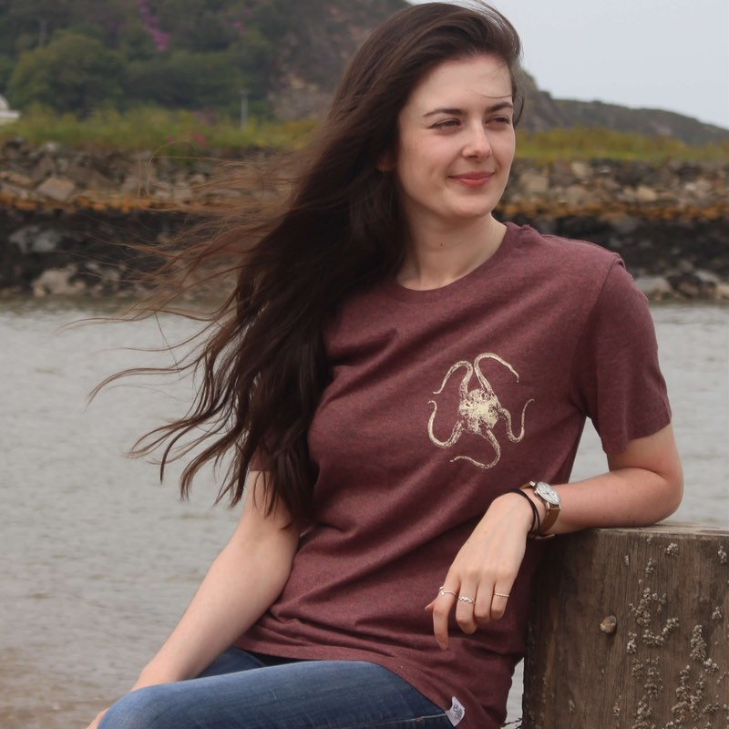 sand brittle star t-shirt - plum