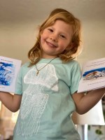 childrens caribbean blue barrel jellyfish t-shirt
