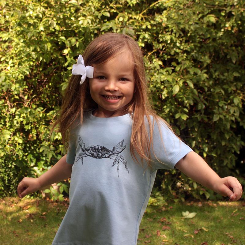 Children's Organic cotton Shore crab t-shirt