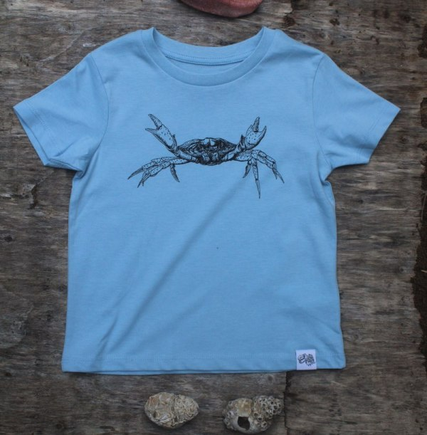 children's shore crab t-shirt - baby blue