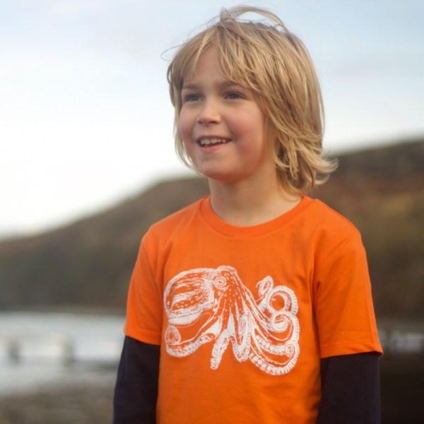Children's octopus t-shirt
