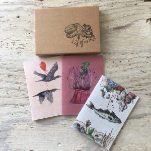 plastic pollution awareness pocket notebook set