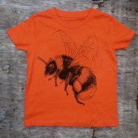 childrens bumblebee t-shirt orange