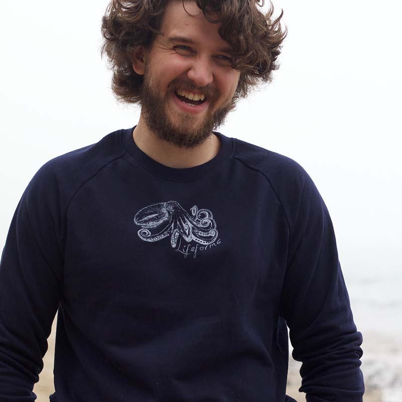 Curled octopus sweatshirt