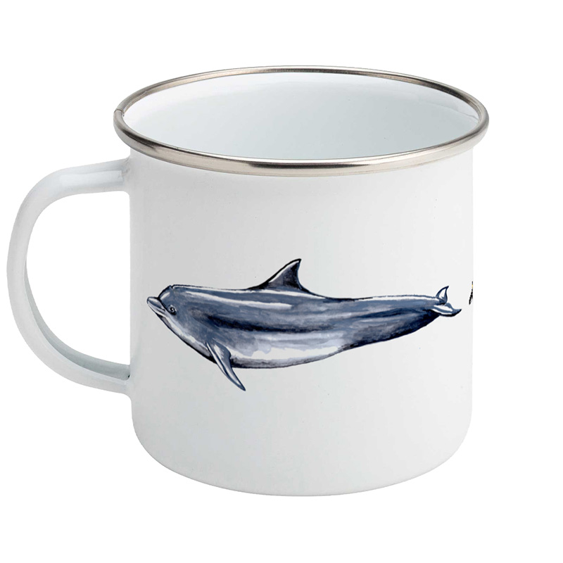 Cetacean Enamel Mug