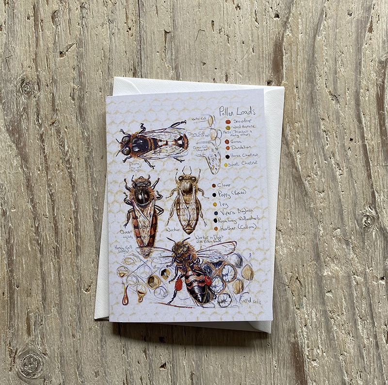 Honey bee greetings card