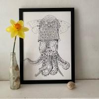 Little Atlantic Cuttlefish Fine Art Print