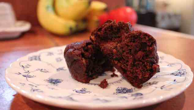 Coconut Flour Chocolate Zucchini Muffins