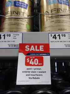 2018 Labor Day sale at Lowes