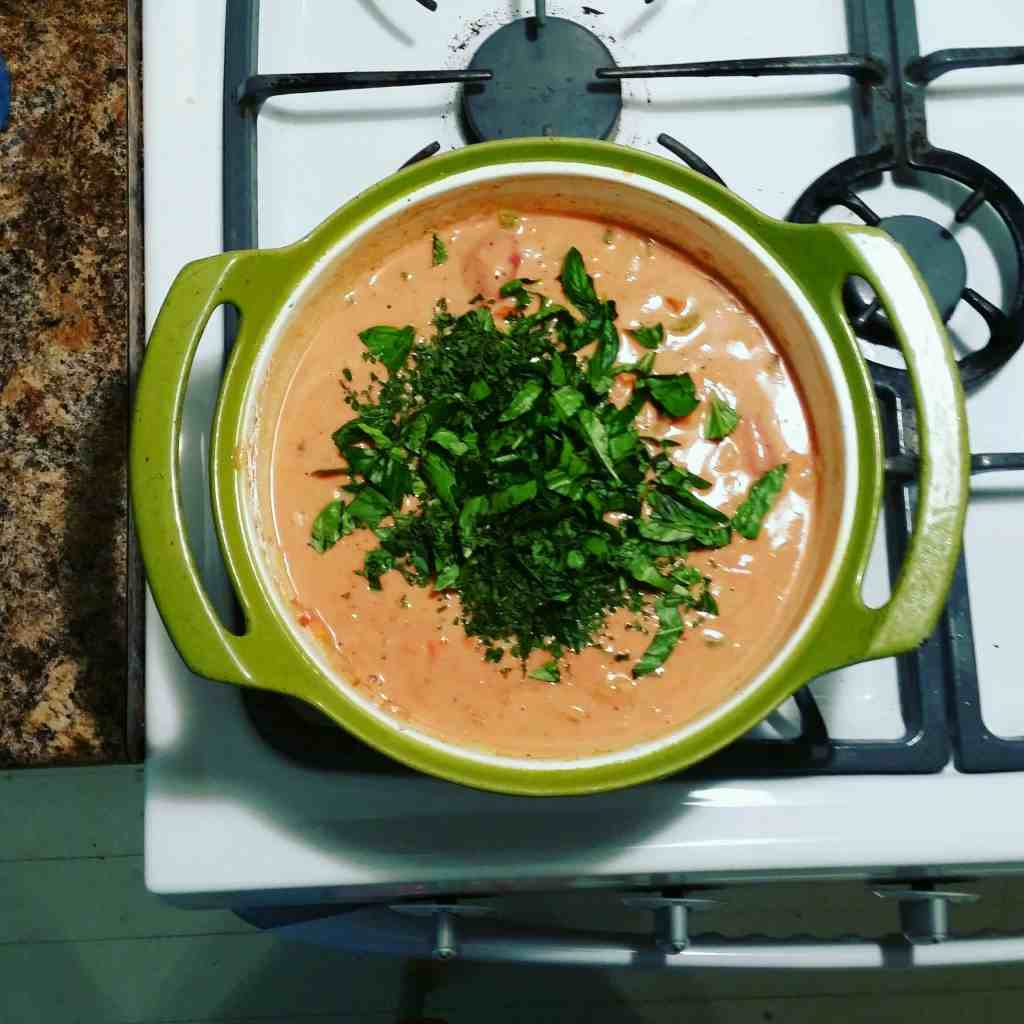 Life Full and Frugal/Tomato Basil Soup